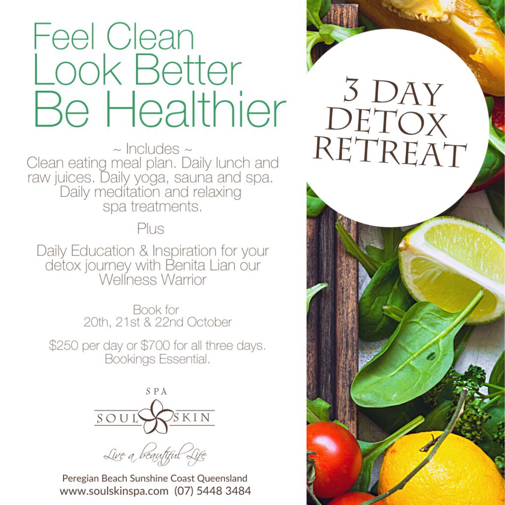 Detox Retreat Yoga Sauna Spa, Wellness Coach Raw Juices and Spa Treatments Massage Facials.