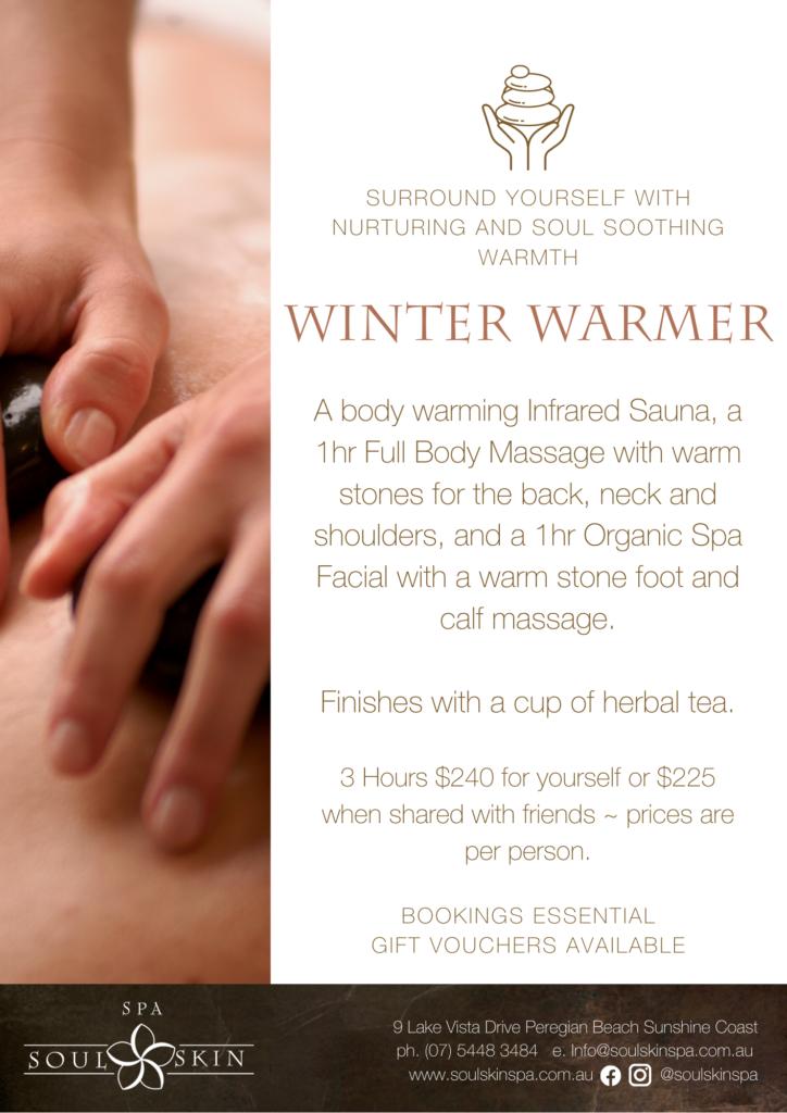 Day Spa Special Massage Facial Sauna Winter Stones